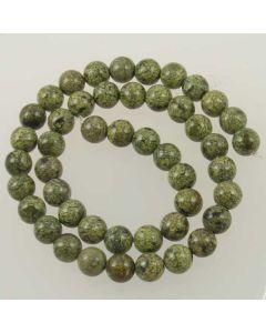 Russian Serpentine 8mm Round Beads - light