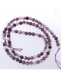 Sage Amethyst 4mm Round Beads