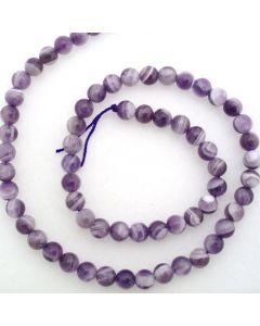 Sage Amethyst 6mm Round Beads