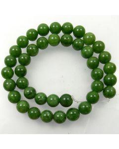 Malay Jade (Dyed Sage Green Quartzite) 10mm Round Beads