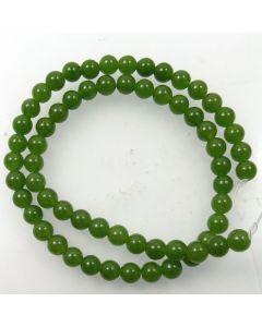 Malay Jade (Dyed Sage Green Quartzite) 6.5mm Round Beads
