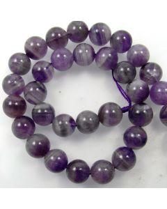 Sage Amethyst 12mm Round Beads