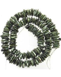 Seraphinite (Clinochlore) 8x10mm (approx) Irregular Slice Beads