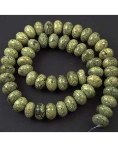 Russian Serpentine 6x10mm Rondelle Beads
