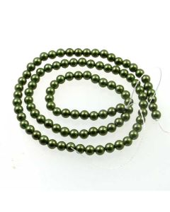 Shell Pearl Forest Green 4mm