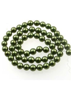 Shell Pearl Forest Green 6.5mm