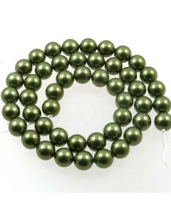 Shell Pearl Forest Green 8mm