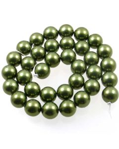 Shell Pearl Forest Green 12mm