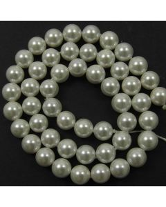Shell Pearl  White 8mm