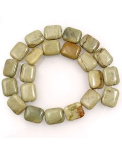 Silver Leaf Jasper 15x18mm Rectangle Beads