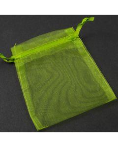 Moss green organza bag