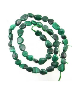 Malachite 8-10mm (approx) Small Nugget Beads