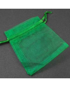 Organza Bags - Small Plain Emerald Green (Pack of Ten)