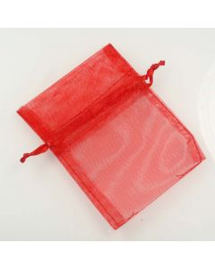 Organza Bags - Small Plain Red (Pack of Ten)