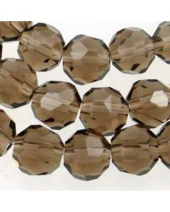 Smoky Quartz Faceted Glass Beads 8mm ROUND (approx 72 beads)