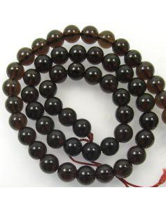 Smoky Quartz Dark 8mm Round Beads