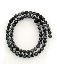 Snowflake Obsidian 6mm Round Beads