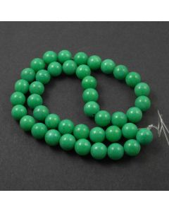 Mashan Jade (Dyed Spring Green) 10mm Round Beads