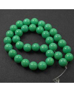 Mashan Jade (Dyed Spring Green) 12mm Round Beads