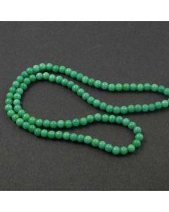 Mashan Jade (Dyed Dark Spring Green Marble) 4mm Round Beads