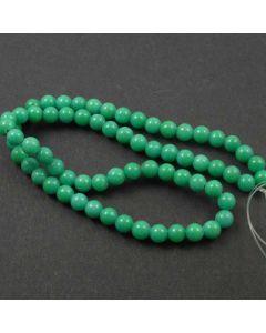 Mashan Jade (Dyed Dark Spring Green) 6mm Round Beads