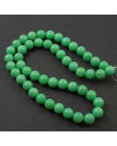 Mashan Jade (Dyed Light Spring Green) 8mm Round Beads