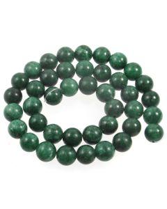 Mashan Jade (Dyed Teal Marble) 10mm Round Beads