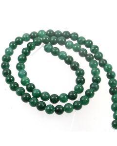 Mashan Jade (Dyed Teal) 6mm Round Beads