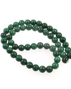 Mashan Jade (Dyed Teal Marble) 8mm Round Beads