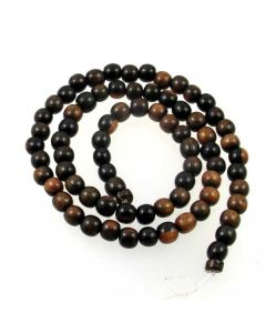 Tiger Kamagong approx. 6mm Round Beads