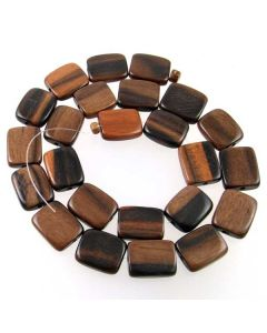 Tiger Kamagong 14x14x5mm (approx) Flat Square Beads