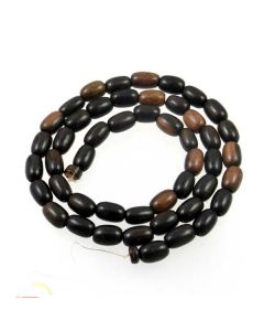 Tiger Kamagong approx. 3x6mm Rice Beads