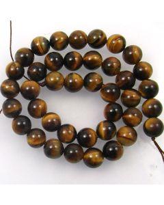 Tigereye 10mm Round Beads