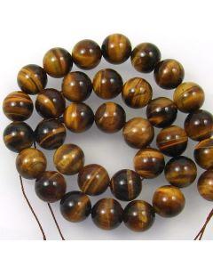 Tigereye 12mm Round Beads