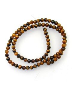 Tigereye 4mm Round Beads