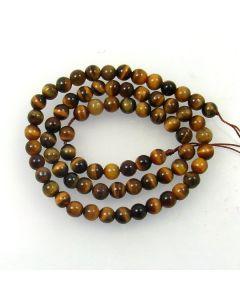Tigereye 6mm Round Beads