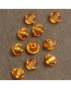 Swarovski® 4mm Topaz Bicone Xilion Cut Beads (Pack of 10)