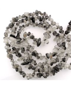 Tourmalinated Quartz 5x8mm Chip Beads