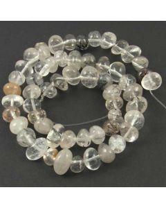 Tourmalinated Quartz  10x8mm (Approx) Nugget Beads