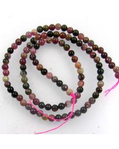 Tourmaline 4mm Round Beads