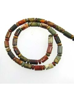 Red Creek Jasper Rondelle and Tube Beads