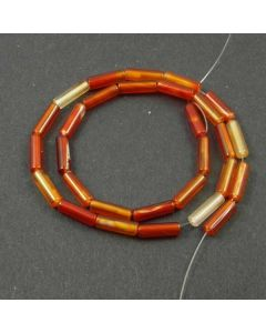 Carnelian (Natural) 4-13mm approx. Tube Beads