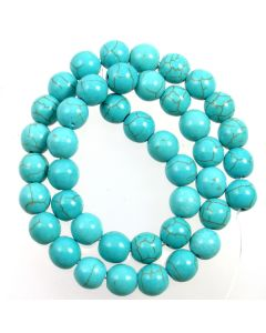Turquoise (Reconstituted) 10mm Round Beads