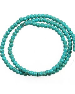 Turquoise (Reconstituted) 4mm Round Beads