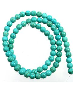 Turquoise (Reconstituted) 6mm Round Beads