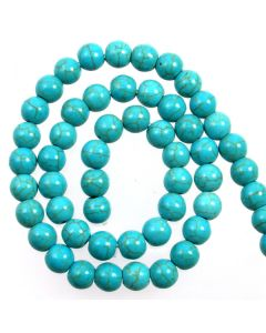 Turquoise (Reconstituted) 8mm Round Beads