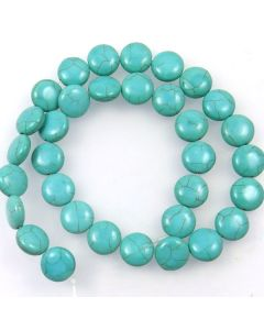 Turquoise (Reconstituted) 12mm Coin Beads