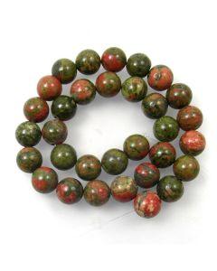 Unakite 12mm Round Beads