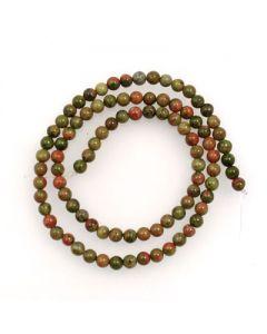 Unakite 4mm Round Beads