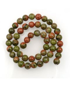 Unakite 8mm Round Beads